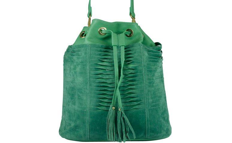 "Bolsa menta Davinci por R$139,90 na <a href=""http://www.ellastore.com.br/bolsas-femininas/davinci/bolsa-davinci-dv-0810-menta"" target=""_blank"">Ella Store</a>"