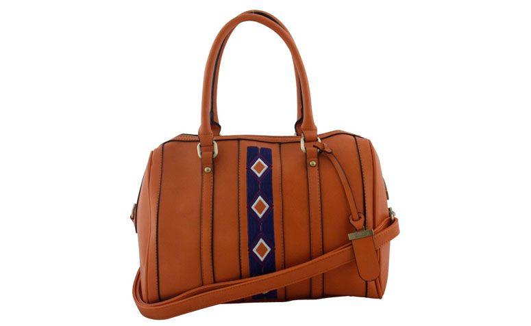 "Bolsa laranja Davinci por R$112,30 na <a href=""http://www.ellastore.com.br/bolsas-femininas/davinci/bolsa-davinci-dv-0817-laranja"" target=""_blank"">Ella Store</a>"