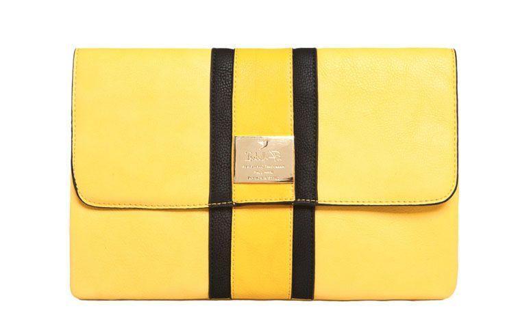 clutch bag yellow stripes Isabella Piu by R $ 82.99 in Dafiti