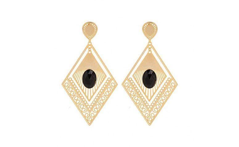 Benim Parlak Aksesuarları $ 99.90 S için siyah taş reçine ile Maxibrinco elmas