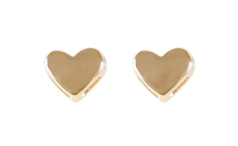 Kısa Aşk Too R tarafından 24 $ kalp küpe altın kaplamalı