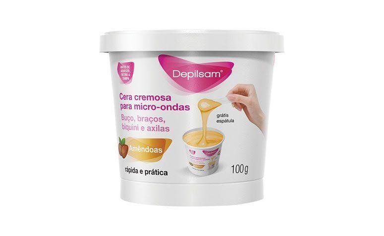 "Cera cremosa para microondas Depilsam por R$10,40 na <a href=""https://ad.zanox.com/ppc/?34939348C12211804&ULP=[[http://www.netfarma.com.br/produto/34980/cera-cremosa-para-depilacao-depilsam-oleo-de-amendoas-para-microondas?utm_source=zanox&utm_medium=cpa&utm_content=deeplinkgen&utm_campaign=zanox]]"" target=""blank_"">Netfarma</a>"