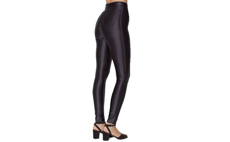 "Legging de cintura alta The Disco Pant por R$285 na <a href=""http://store.americanapparel.com.br/rsaah300.html"" target=""_blank"">American Apparel</a>"