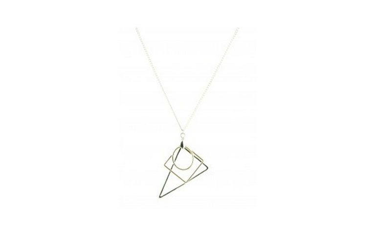 lange Halskette mit geometrischen Anhänger für $ 67 bei Veri Biju