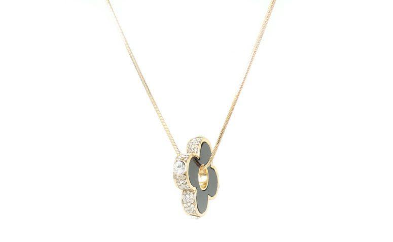 Goldkette Halskette und Anhänger mit Strass für $ 55 in Elo7