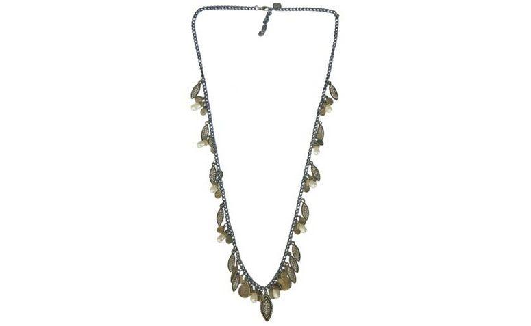 lange Halskette mit Anhänger, Strass und Perlen für $ 208 bei La Valentina