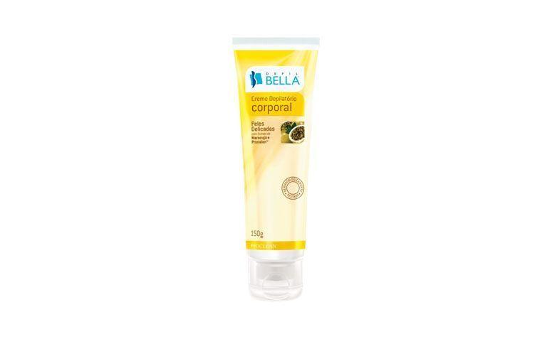 """Creme depilatório corporal Depil Bella por R$20,40 na <a href=""""http://www.superbonitacosmeticos.com.br/depil-bella-creme-depilatorio-corporal-maracuja-e-pronalen-150g/p"""" target=""""blank_"""">Super Bonita Cosméticos</a>"""