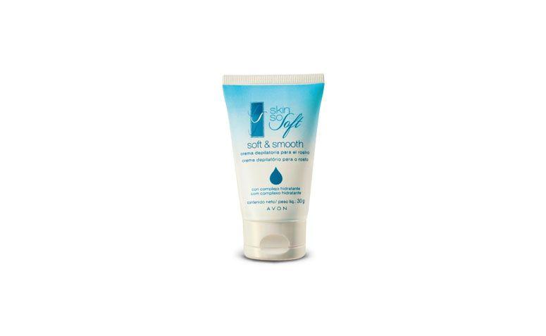 """Creme depilatório facial Avon por R$7,99 na <a href=""""http://www.avonstore.com.br/skin-so-soft-creme-depilatorio-para-o-rosto-30g-avon-avn2101/p"""" target=""""blank_"""">Avon Store</a>"""