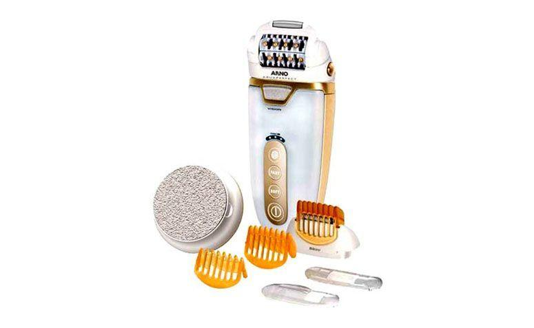 "Depilador Arno Beauty por R$439,00 na <a href=""http://www.submarino.com.br/produto/112893907/depilador-arno-beauty-aquaperfect-arno&utm_source=zanox&utm_medium=display&utm_campaign=home&zanpid=29468767C92935836"" target=""blank_"">Submarino</a>"