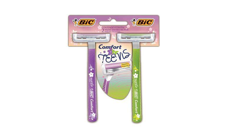 """Aparelho Bic Comfort Twin Teens por R$4,99 nas <a href=""""http://www.lojasrede.com.br/produto/Aparelho-De-Barbear-Bic-Comfort-Twin-Teens-124921"""" target=""""blank_"""">Lojas Rede</a>"""