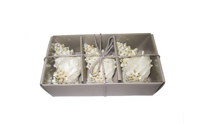 Kit with 3 candles in shell format for $ 26.00 in Nanalu