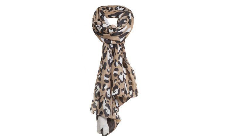 Schal in neutralen Tönen mit Leopardenmuster für $ 79 auf Q Dressing