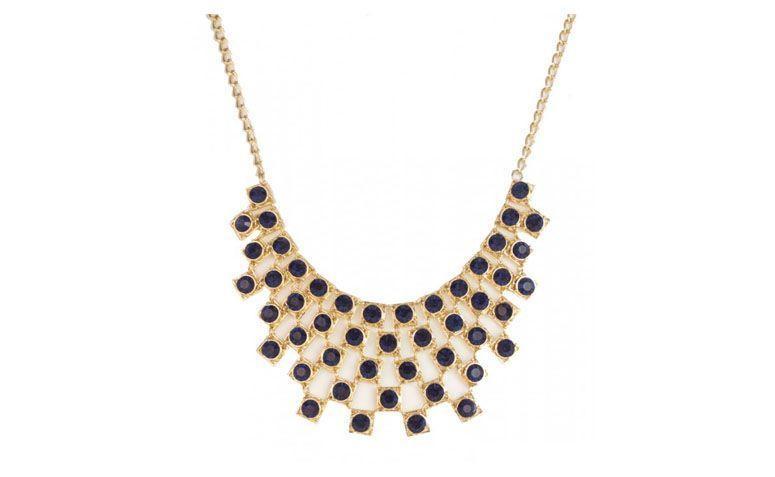 Penelope Aksesuarları'de 49 $ için mavi kristalleri ile Maxicolar
