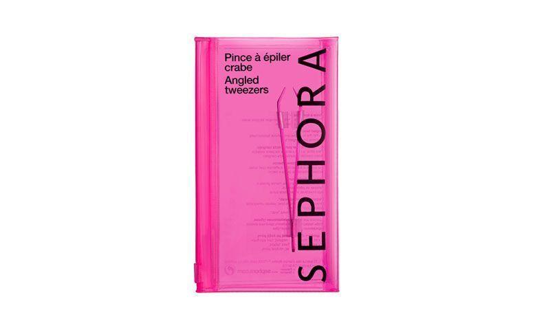 """Pinça Sephora por R$56,00 na <a href=""""http://www.sephora.com.br/sephora-collection/maquiagem/acessorios/pinca-angled-tweezers-12938"""" target=""""blank_"""">Sephora</a>"""