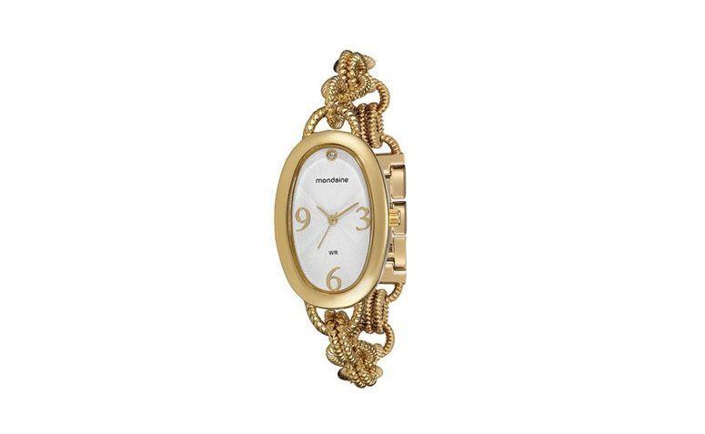 oval goldene Uhr mit Armband uns für R $ 159.99 in Marisa