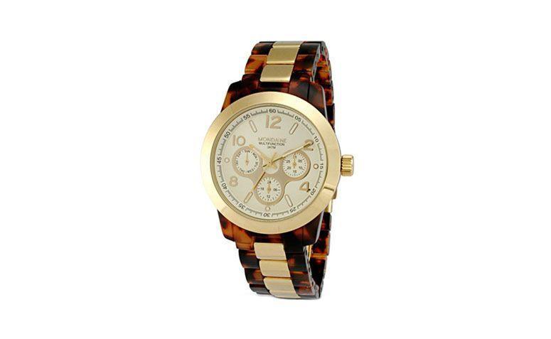 große Uhr mit Armband von R fusionierte $ 109 in Lojas Americanas