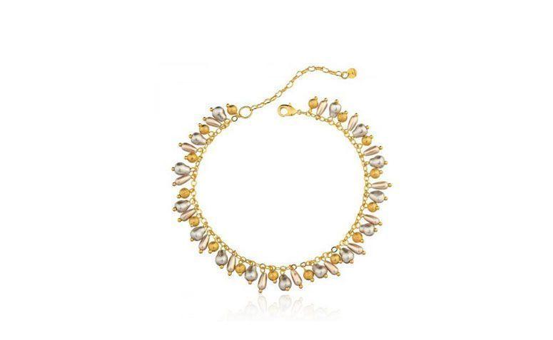R Le Diamonds içinde $ 141,90 tarafından kolye ile Halhal yarı takı