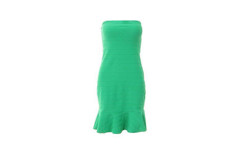 """Vestido bandagem tomara que caia por R$183,99 na <a href=""""http://www.passarela.com.br/passarela/produto/vestido-bandagem-lanca-perfume-02ve237600-verde-6400751515-0"""" target=""""_blank"""">Passarela</a>"""
