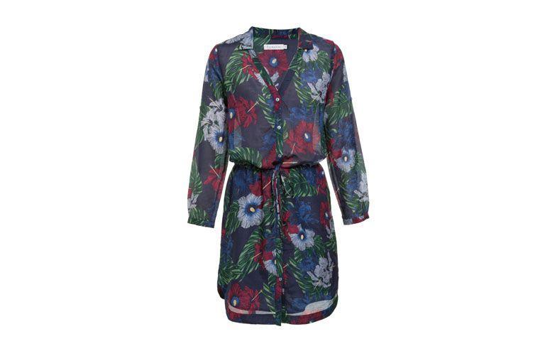 "Vestido chemise floral por R$381 na <a href=""http://www.oqvestir.com.br/vestido-richards-new-chemise-floral---marinho-57365.aspx/p"" target=""_blank"">OQ Vestir</a>"
