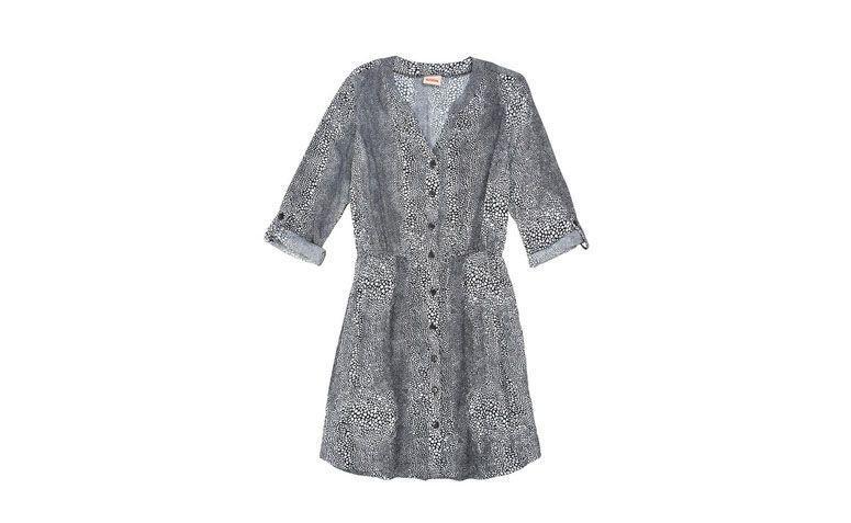"Vestido chemise com manga ¾ por R$119,90 na <a href=""http://ad.zanox.com/ppc/?27713758C43009238&ULP=[[http://www.posthaus.com.br/moda/vestido-chemise-estampado-preto-mercatto_art230485.html?PAC_ID=125109]]"" target=""_blank"">Posthaus</a>"