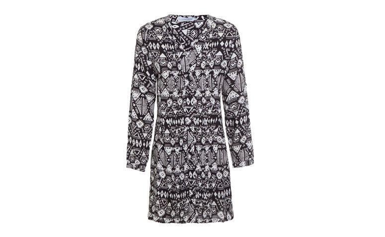 "Vestido chemise com estampa tribal por R$139 na <a href=""http://www.oqvestir.com.br/vestido-chemise-market-33-african-55520.aspx/p"" target=""_blank"">OQ Vestir</a>"
