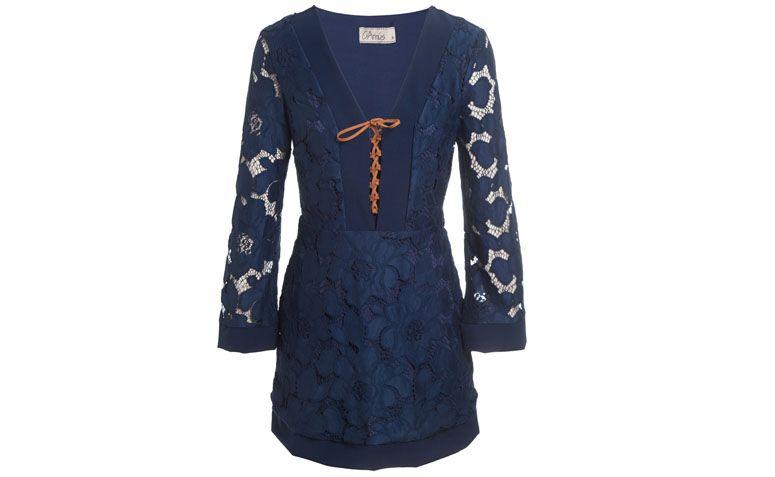 """Vestido de renda marinho Garnús por R$619 na <a href=""""http://www.oqvestir.com.br/vestido-garnus-renda---marinho-55789.aspx/p"""" target=""""_blank"""">OQ Vestir</a>"""