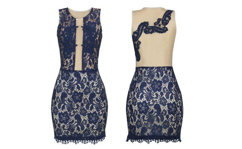 라 쁘띠 마리에 R $ 213.90를위한 장식용 합사 얇은 명주 그물 레이스 드레스 ilusion 조 패션