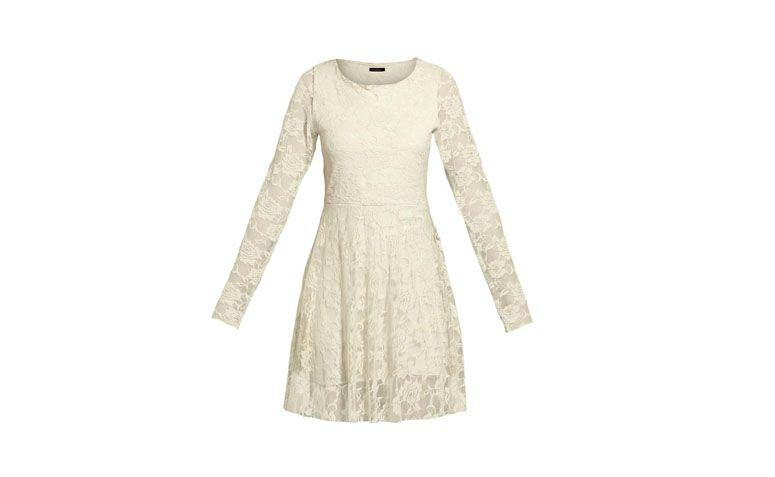 "Vestido de renda evasê pérola Quintess por R$99,99 na <a href=""http://www.posthaus.com.br/moda/vestido-renda-evase-perola_art182247.html"" target=""_blank"">Posthaus</a>"