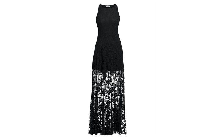 """Vestido longo de renda preta Quintess por R$129,99 na <a href=""""http://www.posthaus.com.br/moda/vestido-longo-renda-preto_art142685.html"""" target=""""_blank"""">Posthaus</a>"""