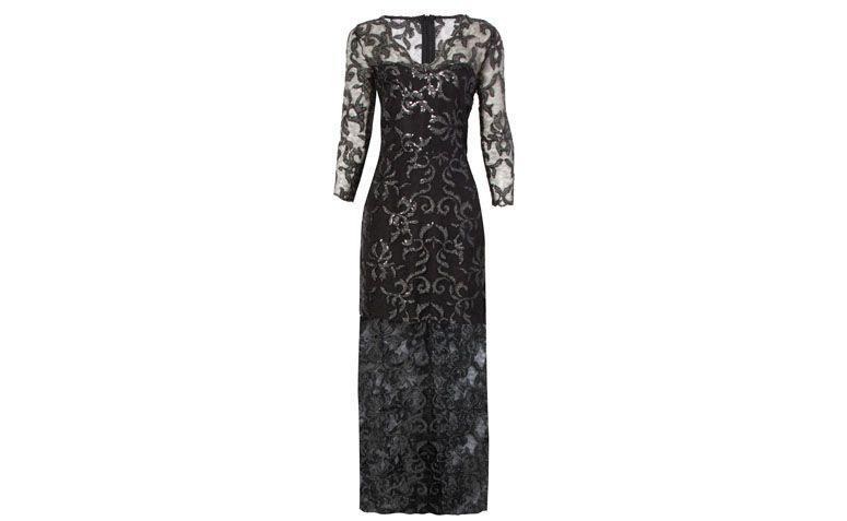 """Vestido sereia rendado com transparência e bordado por R$2.169 na <a href=""""http://www.oqvestir.com.br/vestido-longo-jodri-renda-paetes---preto-58612.aspx/p"""" target=""""_blank"""">OQ Vestir</a>"""