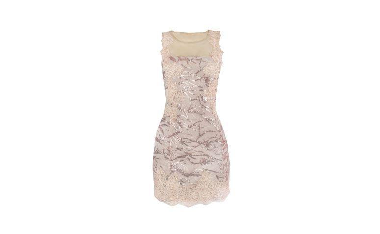 "Vestido rendado e bordado com transparência no decote por R$580,90 na <a href=""http://www.lapetitemarie.com.br/produto/vestido-tule-paete-inquerito/#prettyPhoto"" target=""_blank"">La Petite Marie</a>"