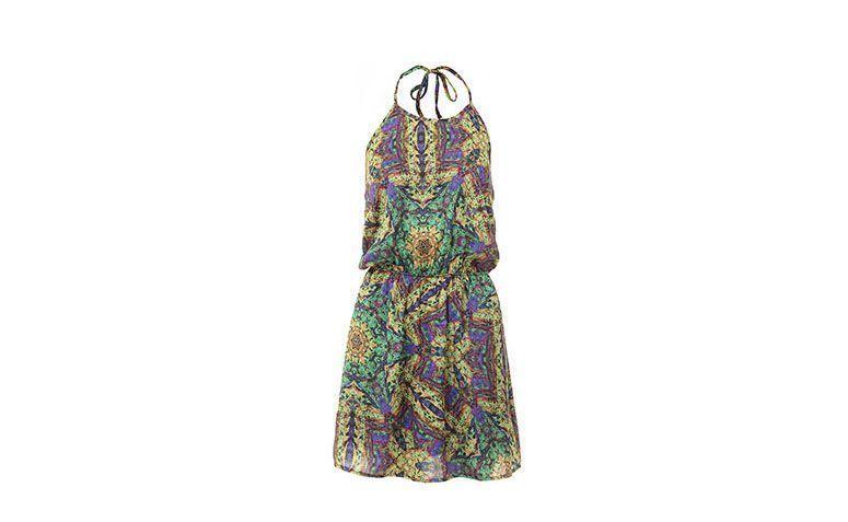 """Vestido frente única com estampa colorida por R$219,99 na <a href=""""http://www.passarela.com.br/passarela/produto/vestido-frente-unica-colcci-0440105380-verde-6400788315-0"""" target=""""_blank"""">Passarela</a>"""