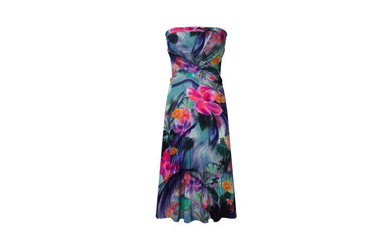 """Vestido tomara que caia curto floral por R$164,50 na <a href=""""http://www.capitollium.com.br/produto/vestido-tomara-que-caia-estampado--verde-148305?atributo=158:verde"""" target=""""_blank"""">Capitollium</a>"""