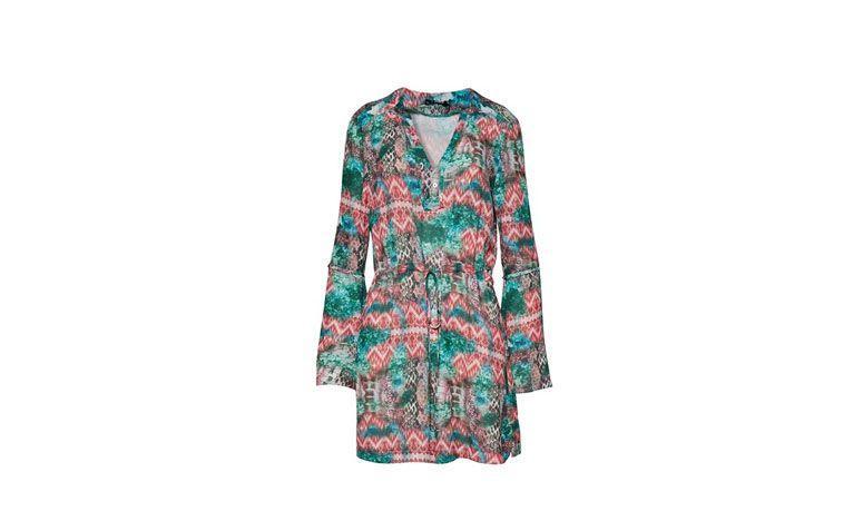 """Vestido túnica com estampa de inspiração geométrica por R$189,95 na <a href=""""http://www.tvz.com.br/tunica-estampa-vibe-geometrica-20112202-786/p"""" target=""""_blank"""">TVZ</a>"""