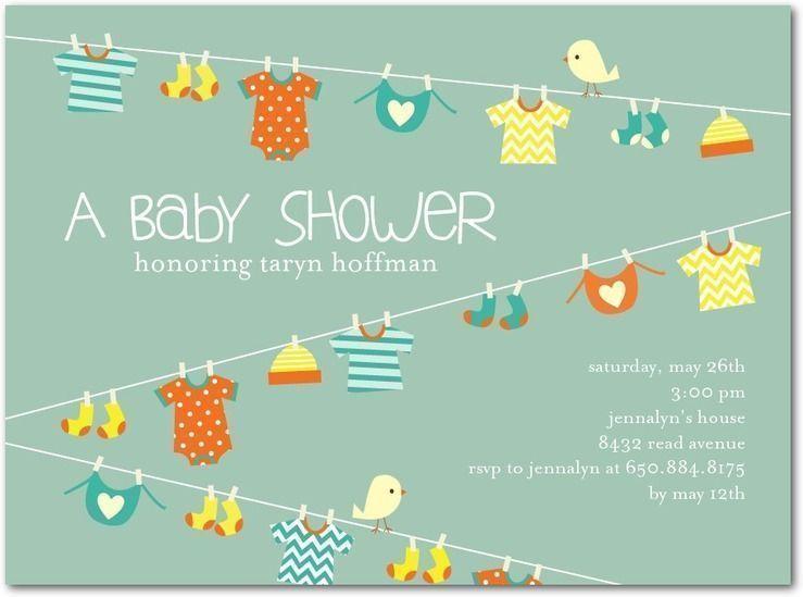 "Foto: Reprodução / <a href=""https://www.tinyprints.com/product/25947/baby_shower_invitations_lovely_laundry_basil.html"" target=""_blank"">Tiny prints</a>"