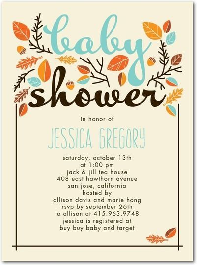 "Foto: Reprodução / <a href=""https://www.tinyprints.com/product/39256/baby_shower_invitations_sweet_autumn_reef.html"" target=""_blank"">Tiny prints</a>"
