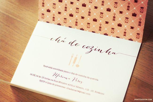 """Foto: Reprodução / <a href=""""http://www.phattdesign.com/convites/cha+de+cozinha+mariana"""" target=""""_blank"""">Phatt design</a>"""