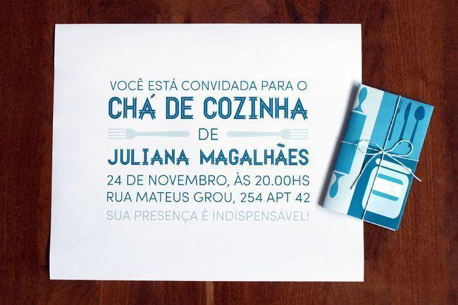 """Foto: Reprodução / <a href=""""http://www.phattdesign.com/convites/cha+de+cozinha+juliana"""" target=""""_blank"""">Phatt design</a>"""