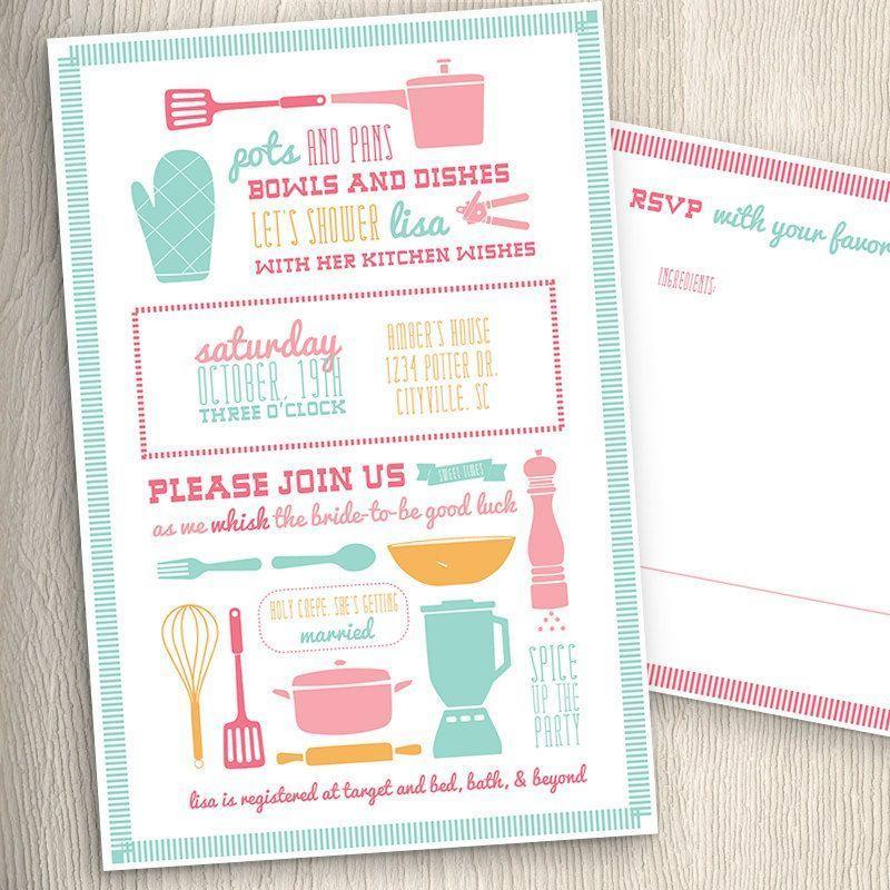 Convite Para Chá De Cozinha Prontos Para Imprimir