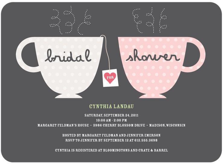 "Foto: Reprodução / <a href=""http://www.weddingpaperdivas.com/product/8297/signature_white_bridal_shower_invitations_charming_teacups.html#color/03"" target=""_blank"">Wedding paper divas</a>"