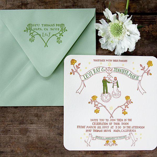 "Foto: Reprodução / <a href=""http://ohsobeautifulpaper.com/2015/05/jen-levis-alchemy-inspired-wedding-invitations/"" target=""_blank"">Oh so beautiful paper</a>"