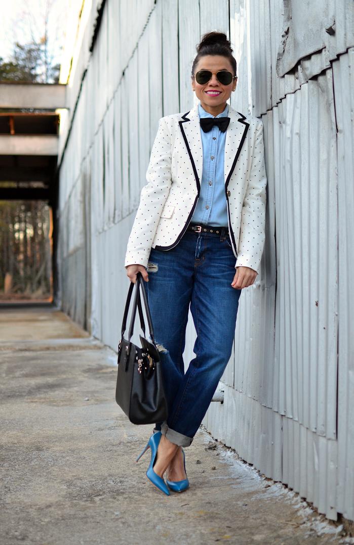 "Foto: Reprodução / <a href=""http://www.mysmallwardrobe.com/2014/01/borrowed-from-boys-bow-tie.html"">My Small Wardrobe</a>"