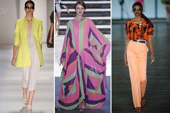 cores citricas 1 Cores cítricas: tendência para o verão 2012