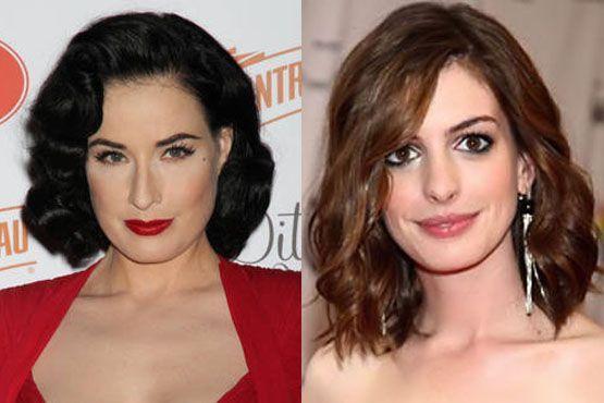 Diva Von Teese e Anne Hathaway