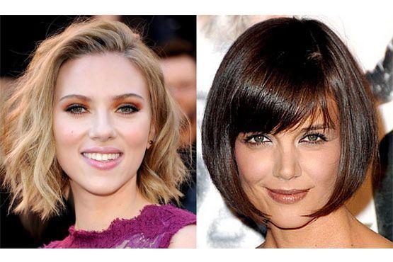 Scarlett Johansson; Katie Holmes.