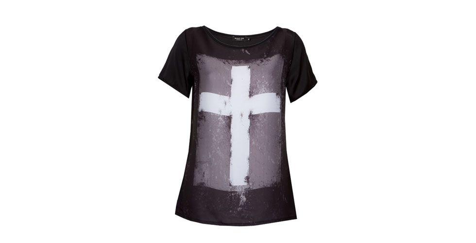 <p>T-shirt preta de cruz – Shop 126 por R$249 na Loja Dafiti.</p>