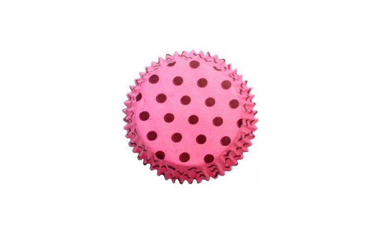 """Forma de papel - 45 unidades por R$3,50 na <a href=""""http://www.89embalagensefestas.com.br/forminha-cupcake-poa-rosa-e-marrom-impermeavel.html"""" target=""""blank_"""">89 Embalagens</a>"""