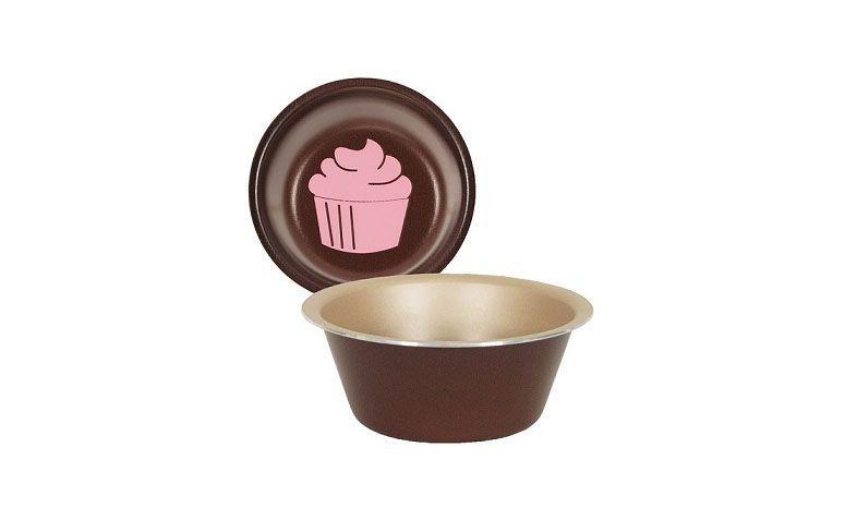 "Forma de alumínio para cupcake po R$6,80 na <a href=""http://www.casajoka.com.br/forma-de-cupcake-la-pasticceria-tramontina-27899030-4318.aspx/p"" target=""blank_"">Casa Joka</a>"