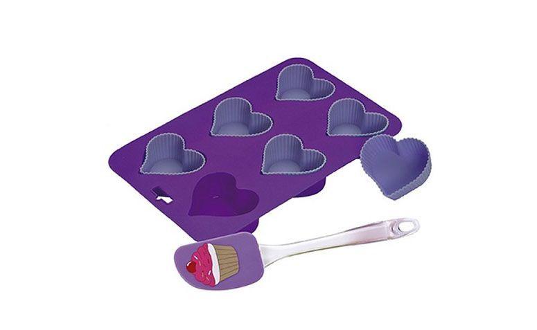 """Kit cupcake coração por R$39,00 na <a href=""""http://www.utilarpresentes.com.br/produto/1841/kit-cupcake-coracao"""" target=""""blank_"""">Utilar</a>"""