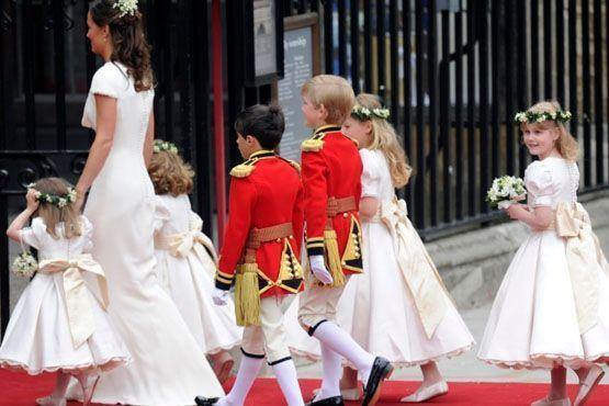 Dama de honra, pajens e daminhas de honra do casamento de Kate Middleton e Príncipe William.